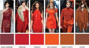 Warme kledingkleuren