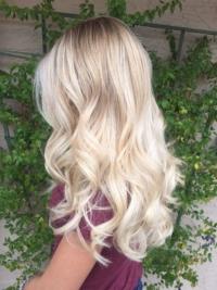 Balayage behandeling blond