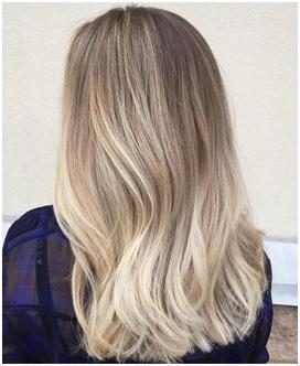 Balayage blond kapsel