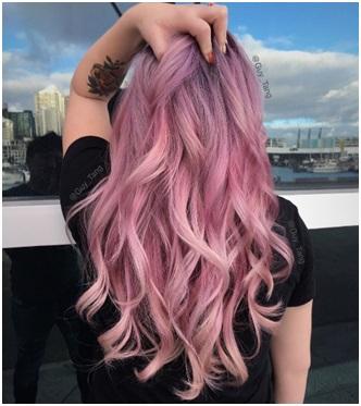 Roze-paars kapsel Bobline